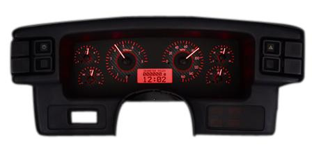 mustang digital instrument cluster carbon face red. Black Bedroom Furniture Sets. Home Design Ideas